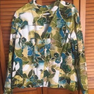 Chicos Additions Floral Jacket